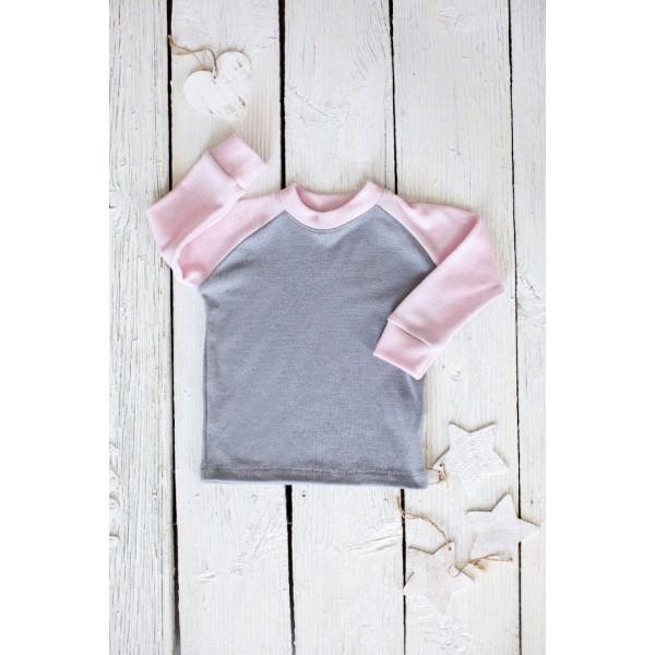 Dvispalviai marškinėliai ilgomis rankovėmis