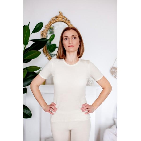 Moteriški trikotažiniai marškinėliai trumpomis rankovėmis