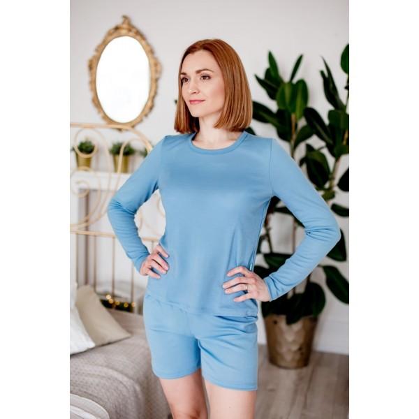 Šiltos moteriškos pižamos su šortukais