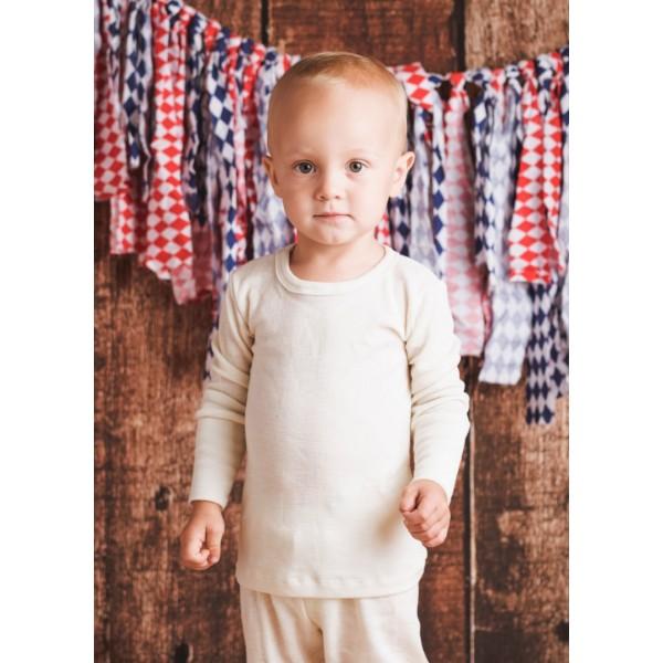 Vaikiški marškinėliai ilgomis rankovėmis su šilku